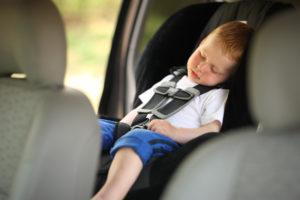 Child left in hot car