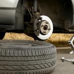 Flat tire - changing a tire in Phoenix, AZ